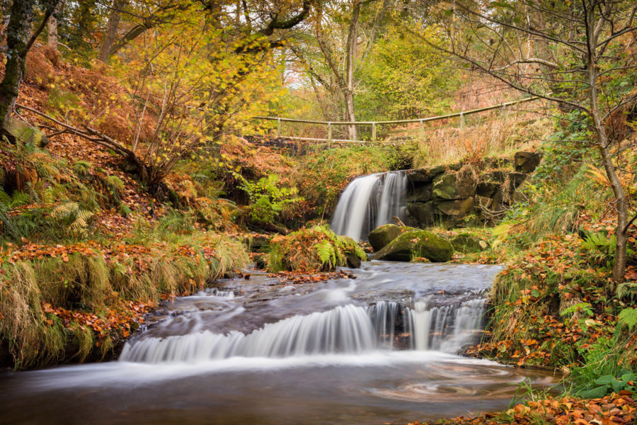 Autumn at Blow Gill waterfall