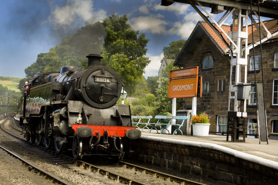 North Yorkshire Moors Railway heritage steam train