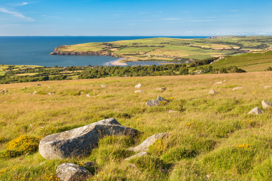 View across to Newport from Ffordd Bedd Morris