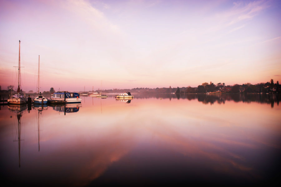 Sunrise on Oulton Broad