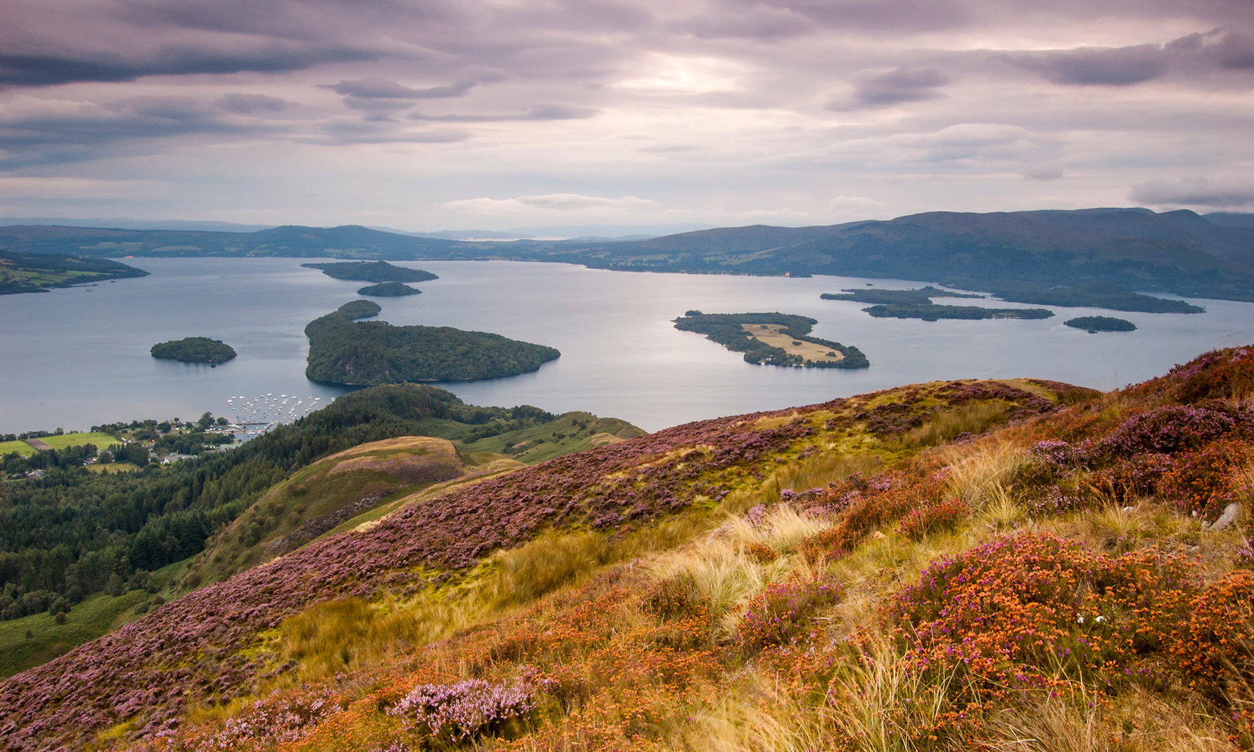 Conic Hill over looking Loch Lomond, Highland Boundary Fault line
