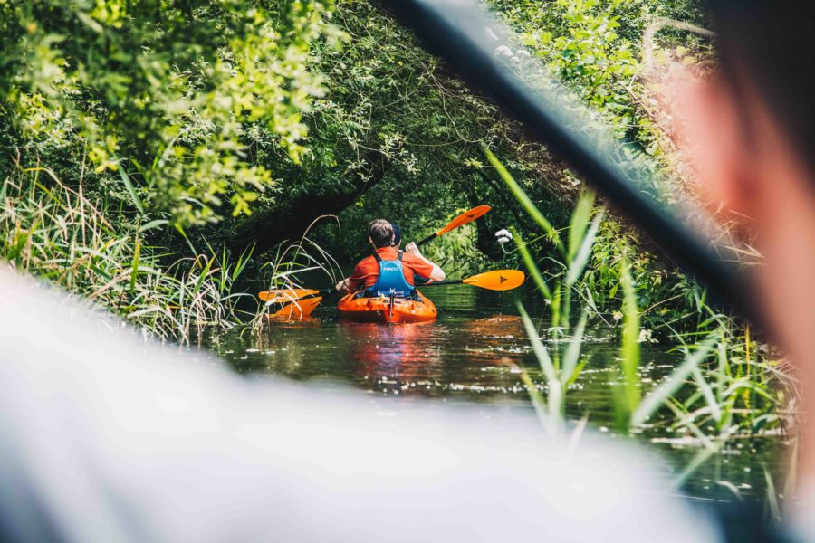 Kayaking in the Yare Valley
