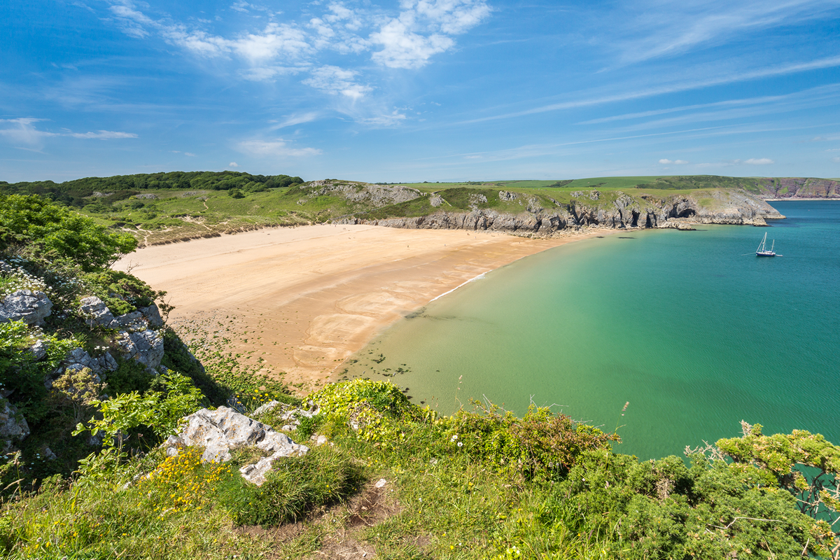 Barafundle Bay Beach, Pembrokeshire Coast National Park